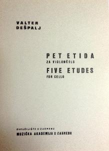 Valter Dešpalj - Pet etida za violončelo